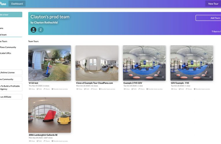 [New Feature] *CloudPano Teams* How To Share User Access For Your Virtual Tour Creation and Software