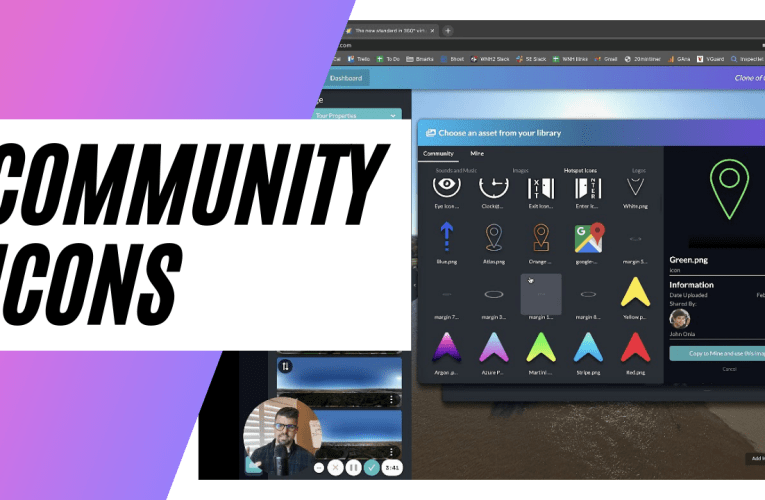 [New Feature] Community Icons – How To Use Over 200+ Hotspot and Info Spots For Virtual Tours