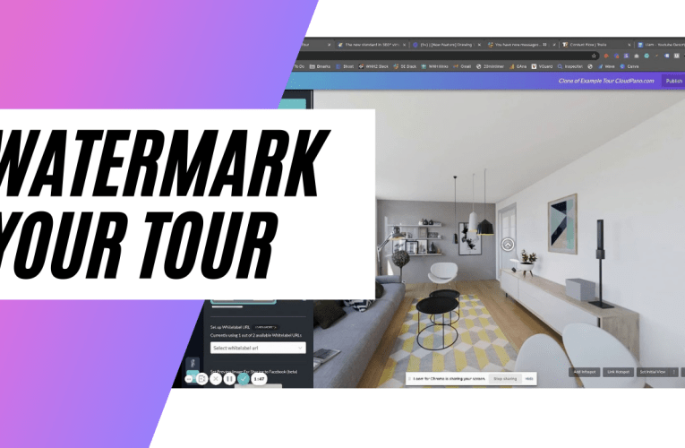 [New Feature] Watermark Your 360º Virtual Tours With CloudPano Virtual Tour Software
